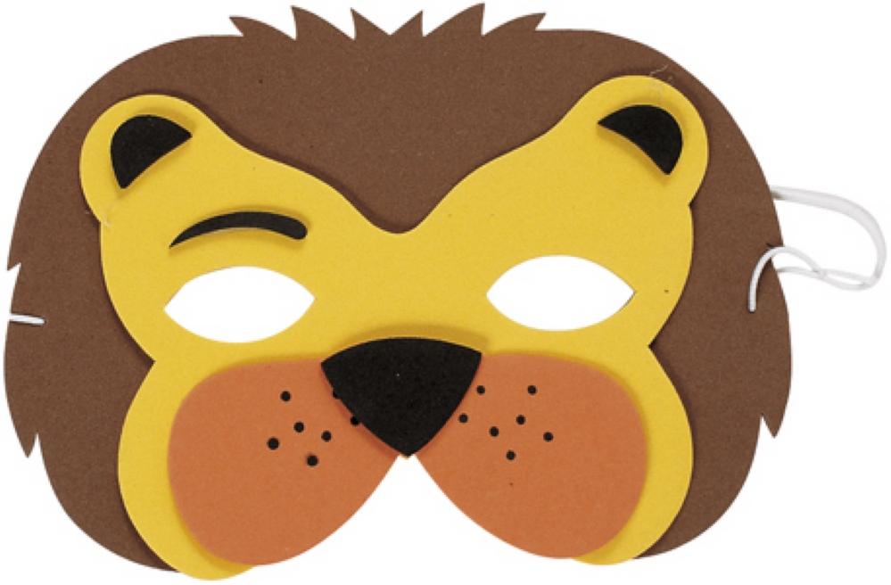 Маска льва из картона